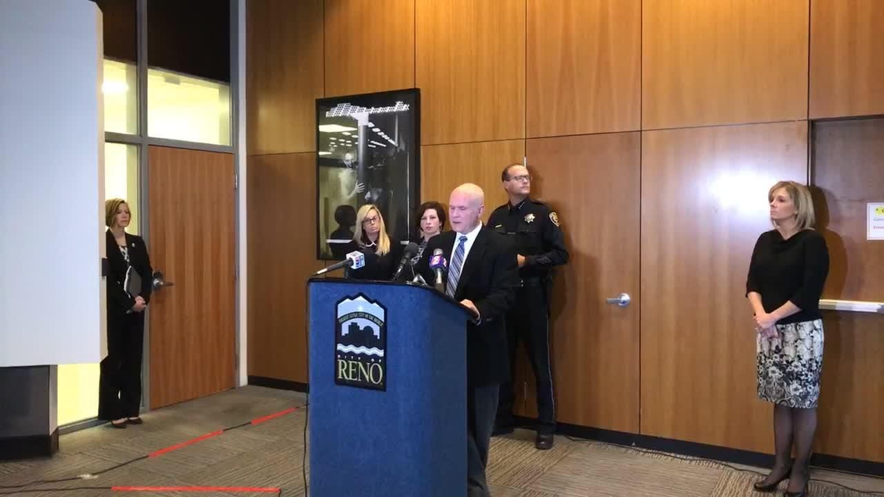 At a very brief news conference, the city's top officials said they take the woman's allegations of sexual assault very seriously, but refused to answer any questions about how the city handled the incident.