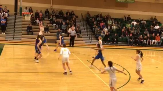 Bishop Manogue's Julia McElwee makes a 3-pointer against Reed Tuesday in a Northern 4A Regional