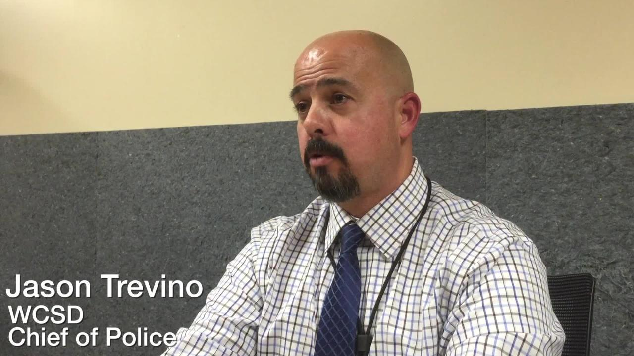 WCSD Chief of Police Jason Trevino talks to the RGJ about recent school threats.