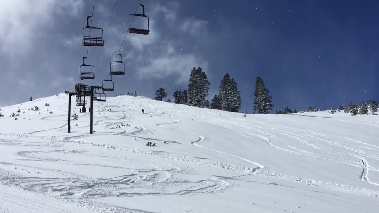 picture perfect tahoe snow machine' setup for big ski days