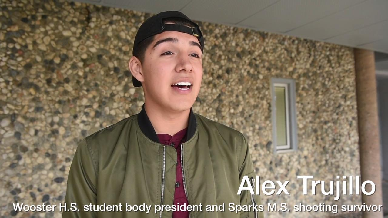 Alex Trujillo, who graduates from Wooster High on June 17, 2018, talks about the impact of surviving a school shooting and how he led students to participate in national walkouts his senior year to protest gun violence in schools