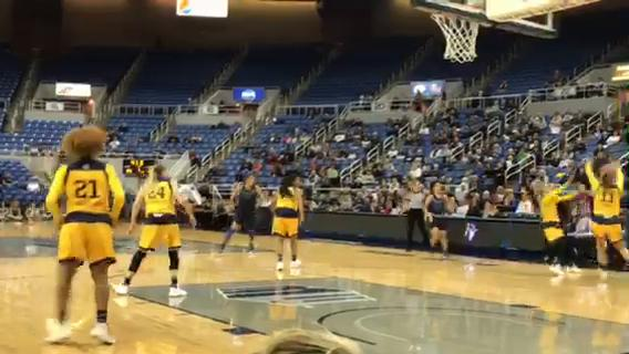 UC Irvine had a 33-31 lead over Nevada at halftime of their WBI game Thursday night at Lawlor Events Center.