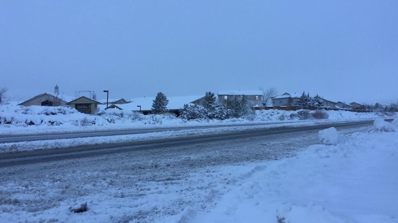Mt Rose Highway by Galena High School at 7:20 am was plowed and sparse traffic moving slowly.