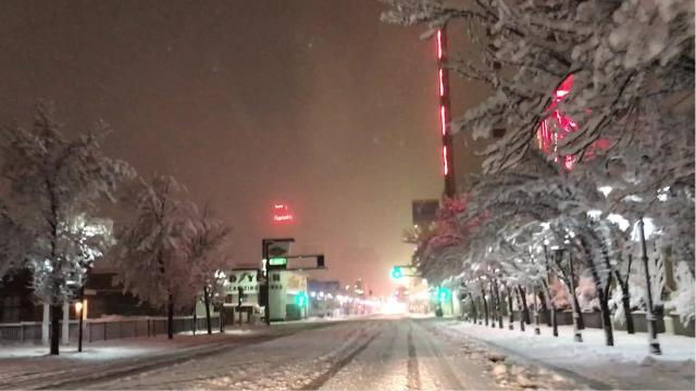 What Reno's roads looked like early this morning.