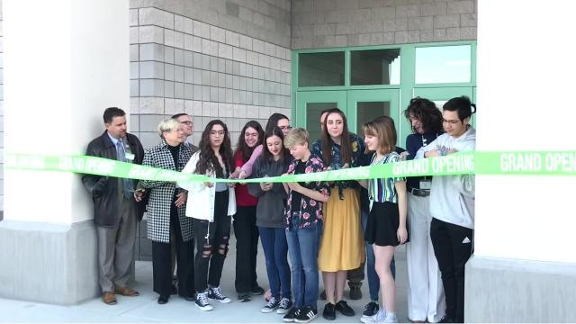 The first Washoe County School District project to be built with WC-1 money opened to students on April 9.