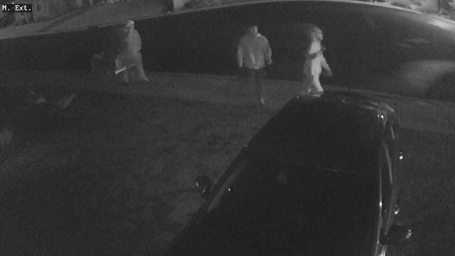The Carson City Sheriff's Office is searching for three suspects who burglarized five to six unlocked vehicles in the Silver Oak neighborhood. The burglaries were reported on April 7, 2018.