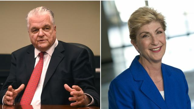 These are the front runners in the Democratic and Republican primaries for Nevada governor.