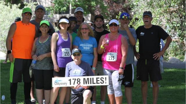 The 'Lolly's Follies' team is running to raising money for ovarian cancer awareness at the Reno Tahoe Odyssey.