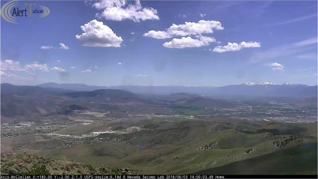 Video from an Alert Tahoe fire camera on McClellan Peak captured the 1,200-acre Chaves Fire swelling on Sunday, June 3. The blaze is Nevada's first 1,000-plus acre wildfire of 2018.