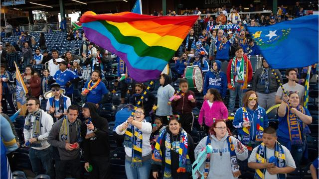 Reno 1868 FC players are donating to Athletes Ally, a support group for LGBTQ people. Donations are based on stats by each player.