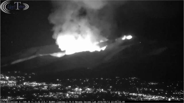 A timelapse view of the Voltaire Fire in its fourth hour as it spreads in a canyon above Carson City.
