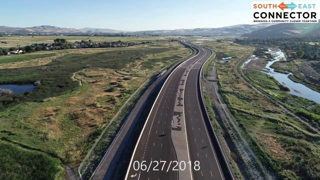 Drone footage of the Southeast Connector from June 27, 2018.