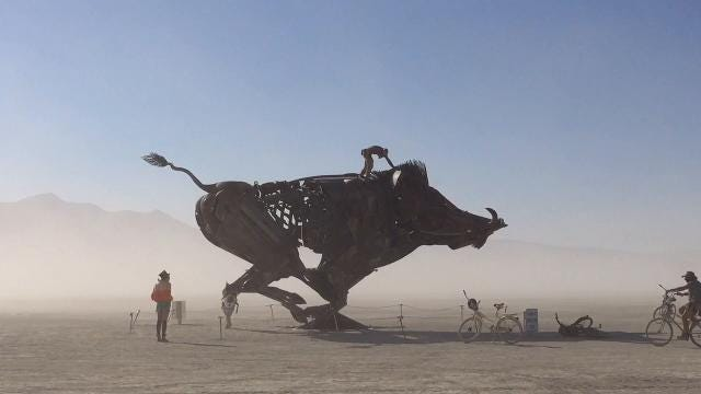 Art. Dust. Wind. See it and hear it from Burning Man. (Andy Barron/RGJ)