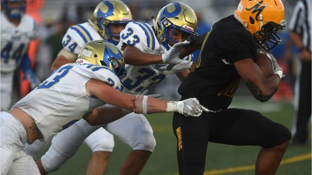 There is a full slate of football games on Friday. Game of the week is Reno at Bishop Manoue. Here are some highlights from Douglas vs Reno on Sept. 14