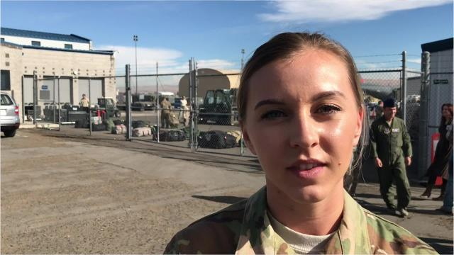 Staff Sgt. Sabrina Peña is about to leave for her first deployment to the Middle East as a medical technician. She is one of about 300 from the Nevada Air National Guard being deployed to southwest Asia over the next few months.