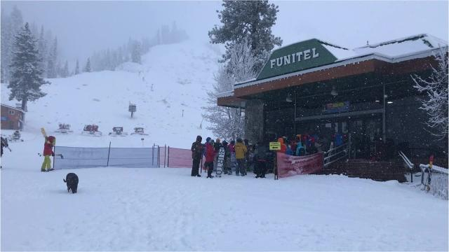 Snow was still coming down Thursday, Nov. 29, 2018 at Reno area ski resorts. Here's the scene at Squaw Valley.