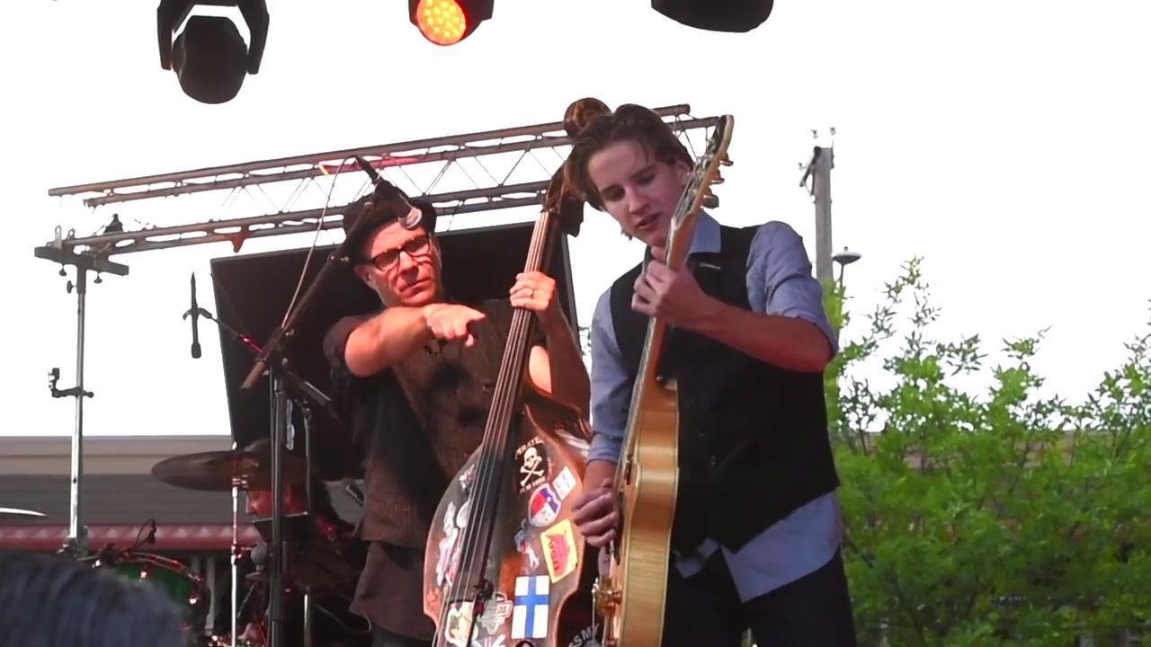 The Killer Vees play at Joetown Rocks parish festival in St. Joseph.
