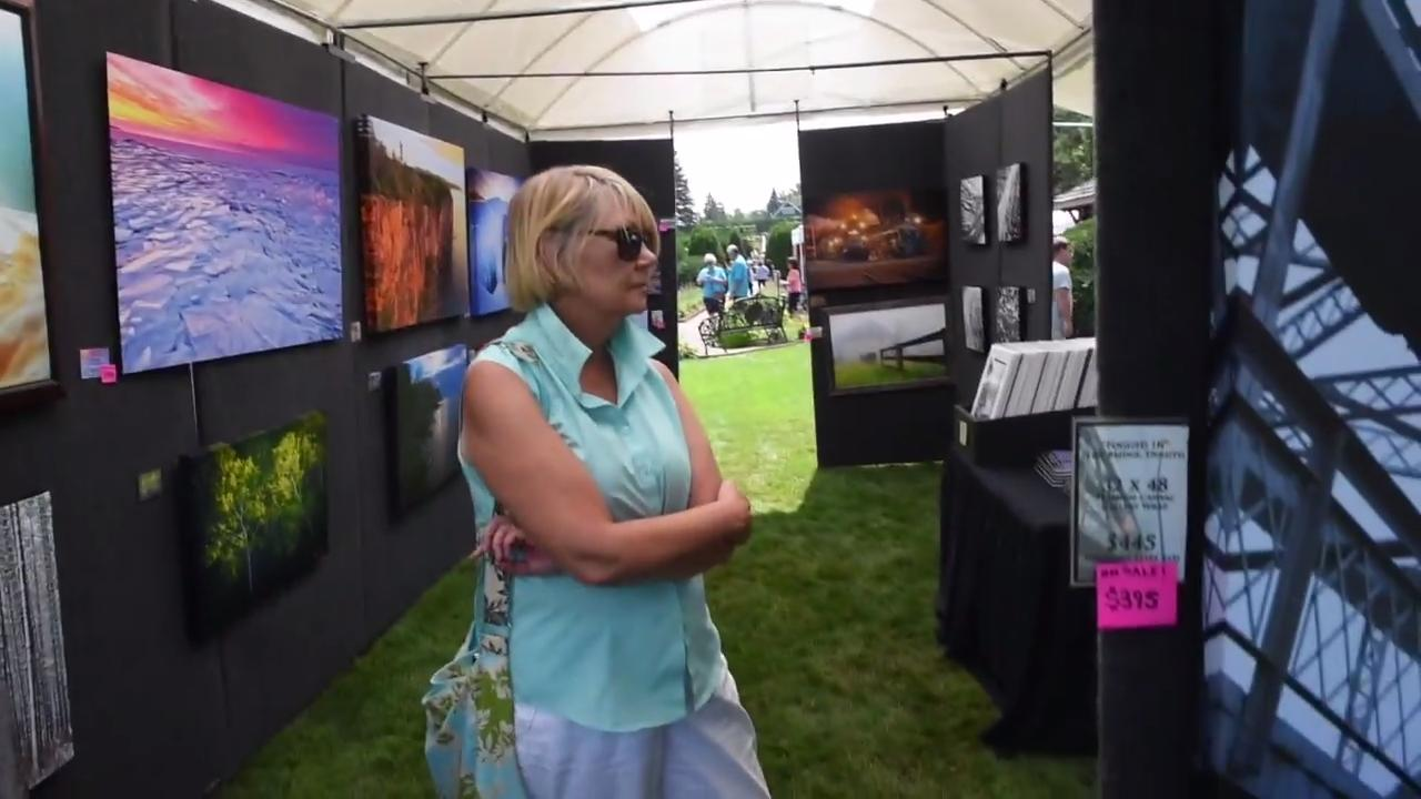 The 10th annual Art Fair in the Gardens at Clemens and Munsinger Gardens.