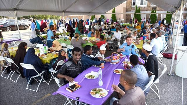 A potluck Thursday outside the St. Cloud Islamic Center was a chance to connect residents over food and games.