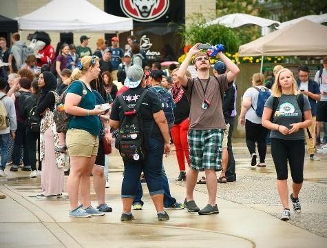 Students watch eclipse at SCSU
