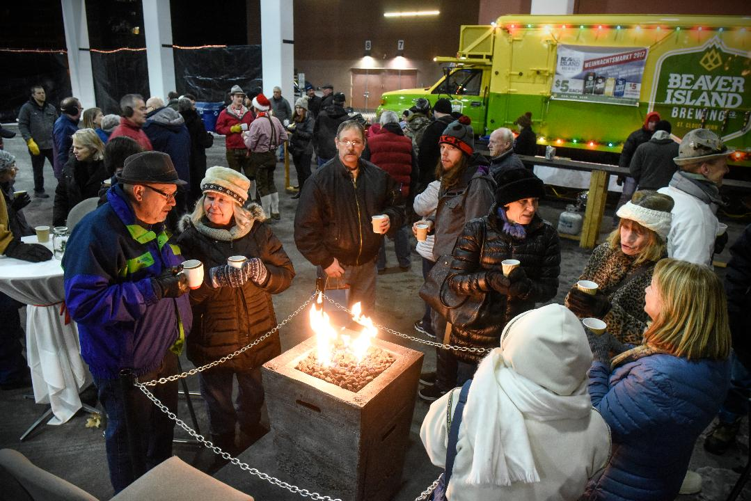 Event features festive food, music and drinks.