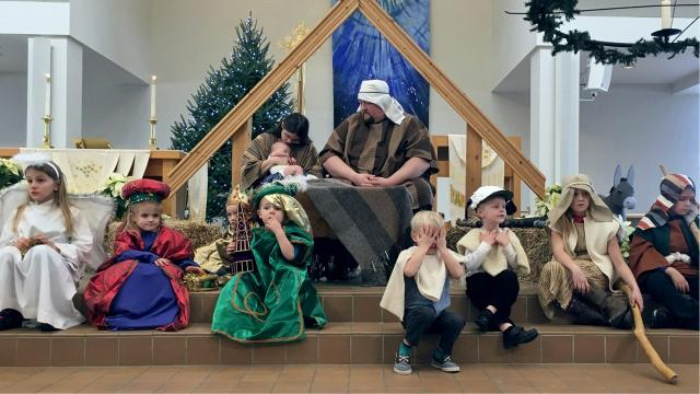 A seasonal favorite, children and parishioners reenacted the Christmas story at Bethlehem Lutheran Church on Sunday.
