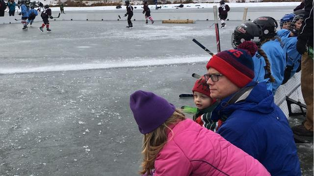 Lake George was inundated with hockey fans Saturday, Jan. 20.