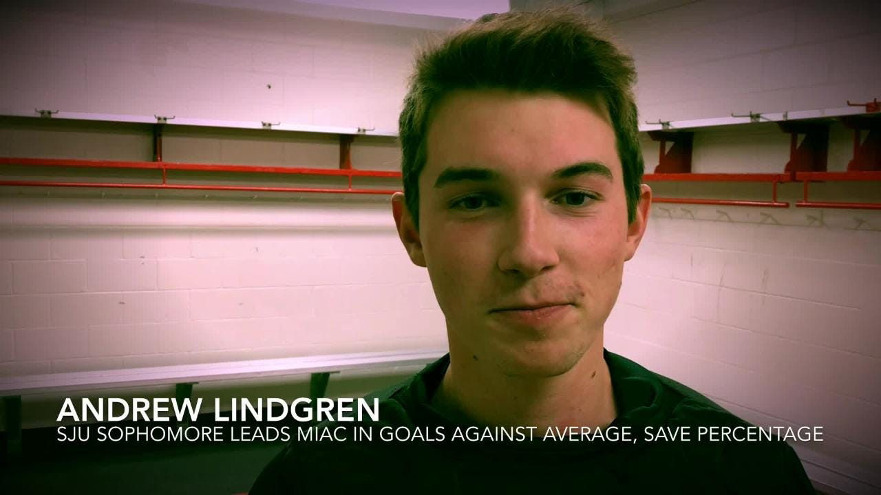 Andrew Lindgren, the younger brother of Charlie Lindgren, is leading the MIAC in goals-against average and save percentage. His brother, a former All-American for SCSU, is in his 2nd full season in Montreal Canadiens' organization