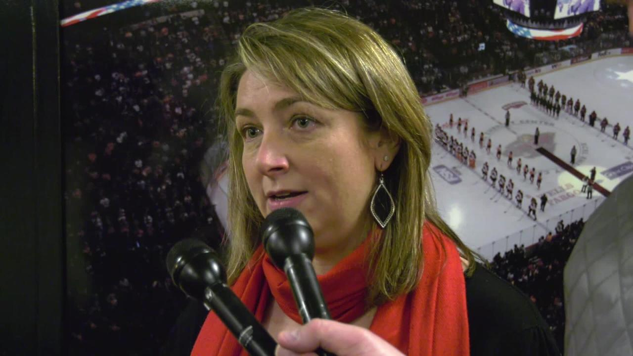 St. Cloud State Director of Athletics Heather Weems addresses men's hockey coach Bob Motzko's departure. Motzko was announced as the new coach of the University of Minnesota men's hockey team March 27.