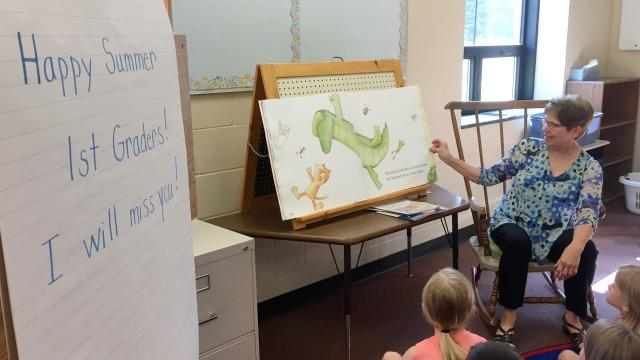 St. Boniface School first-grade teacher Carol Sell reflects on her career on her last day of school after 45 years.