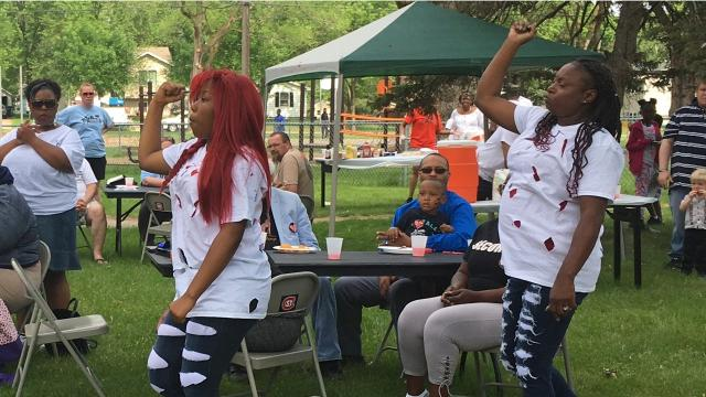 Dancers from Higher Ground Church performed at Race Unity Day on Sunday, June 10, 2018, at Promise Neighborhood of Central Minnesota.