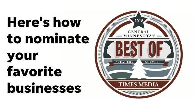 How to nominate your favorite businesses for the 2018 Best of Central Minnesota awards