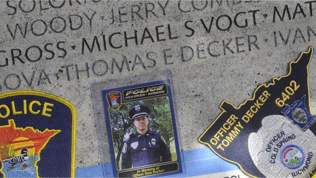 Cold Spring Officer Tom Decker was shot and killed in the line of duty Nov. 29, 2012, after he arrived to perform a welfare check at an apartment above Winners Sports Bar and Grill in Cold Spring.