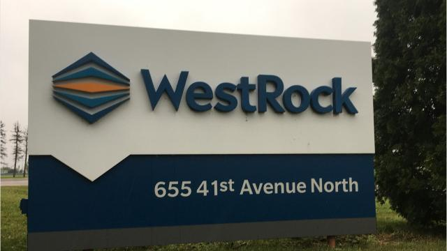 A St. Cloud manufacturing company evacuated employees Thursday morning after noticing flames at the base of an exhaust fan, according to WestRock production manager Allen Mackedanz.