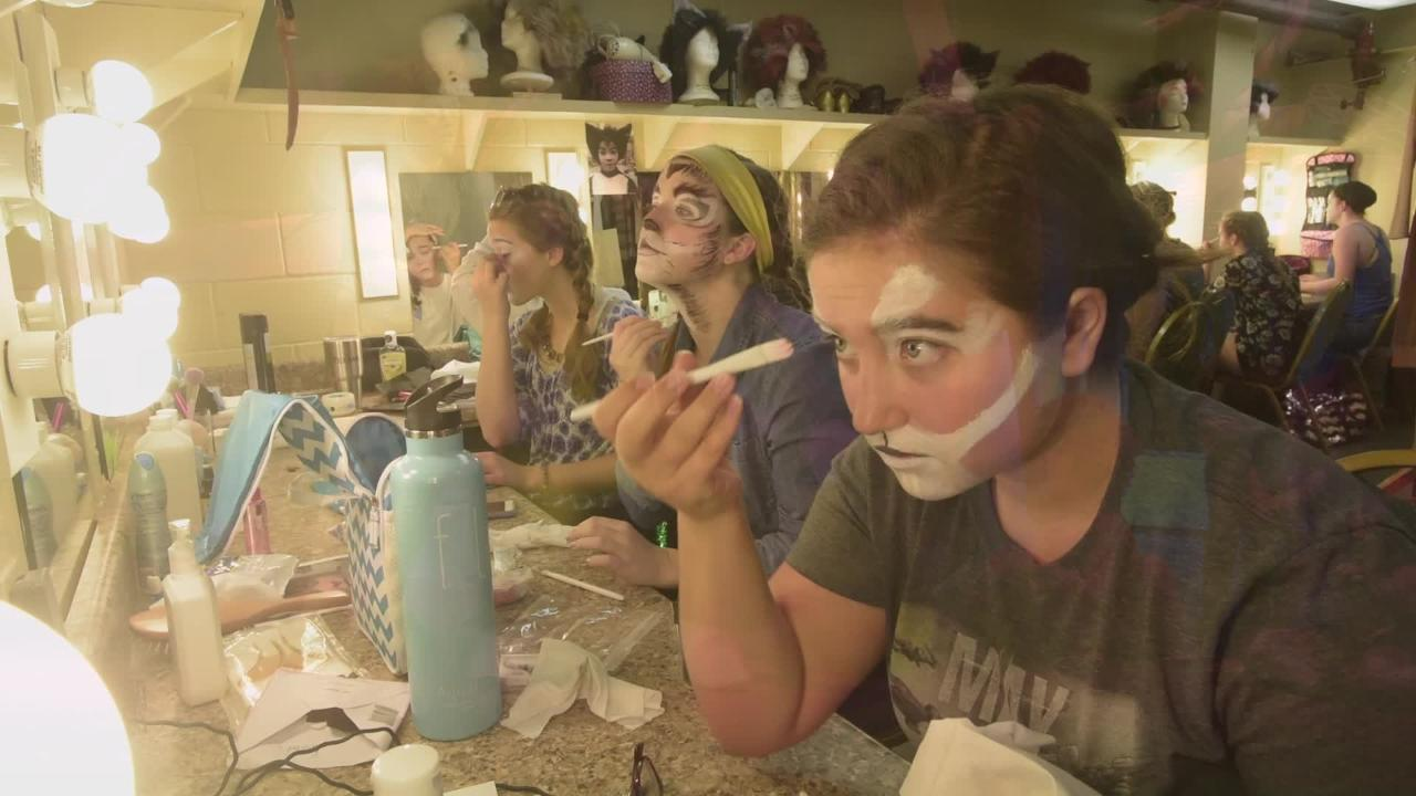 "Go behind the scenes to see what it takes to put on Pensacola Little Theatre's production on ""Cats."""