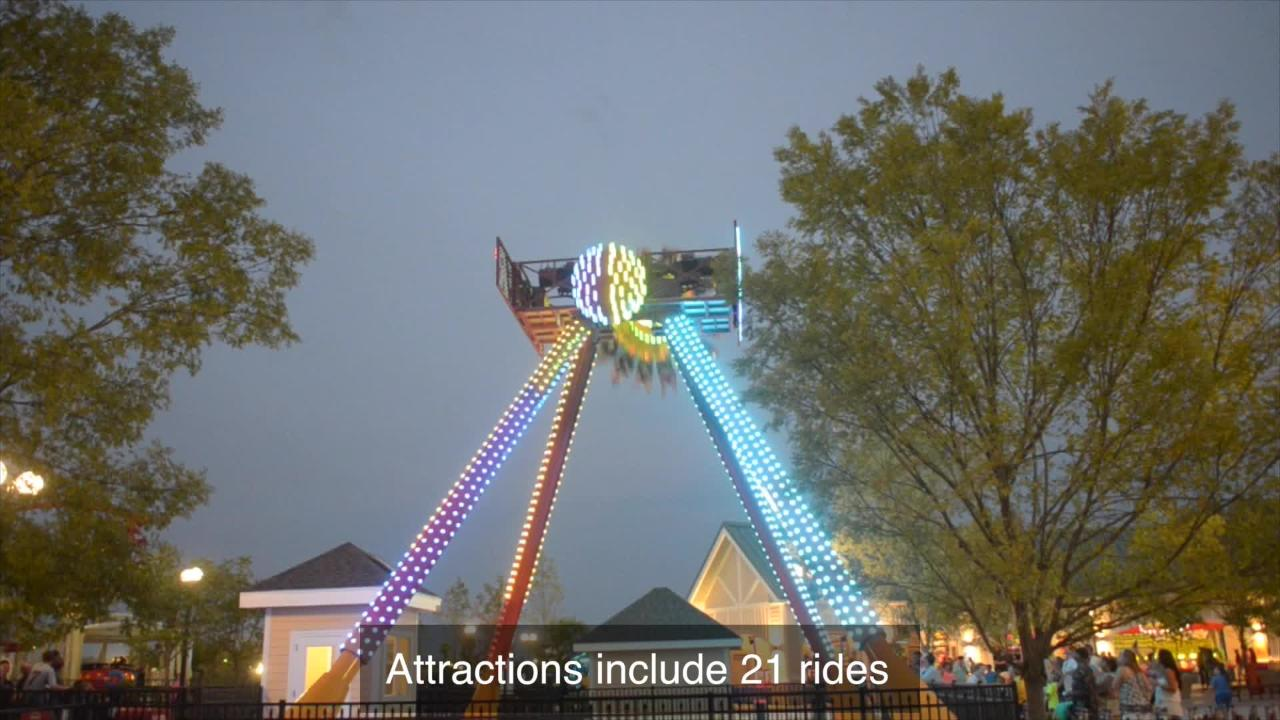 The Park at OWA opened to the public Friday. It features 21 rides, two restaurants, carnival games and more.