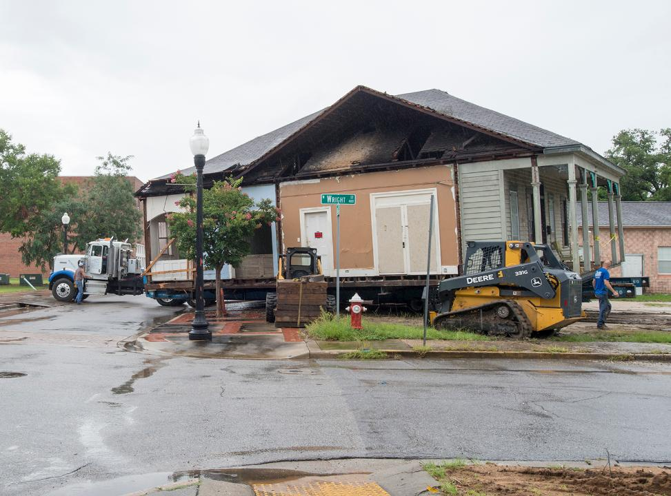 Historic Belmont DeVilliers house saved from demolition and moved to new location in Pensacola.
