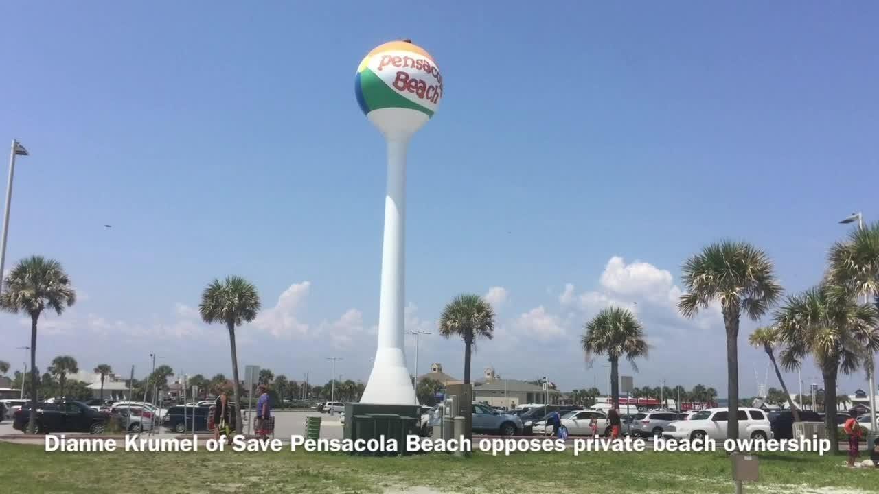 Resident Dianne Krumel opposes beach plan