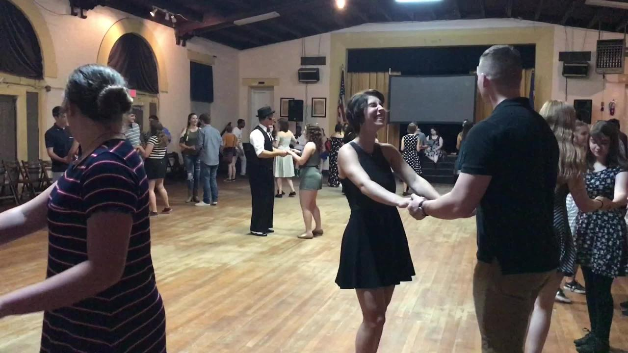 Every Friday, hundreds of mostly young people show up at an American Legion Hall to swing dance, just like their grandparents - or great-grandparents - before them.
