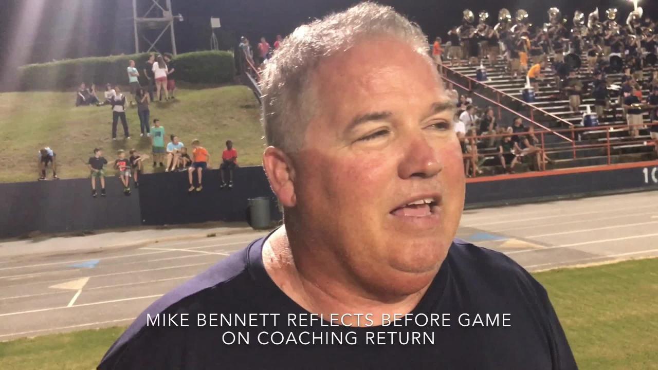 Escambia High football coach Mike Bennett