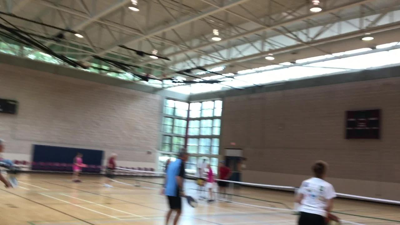 Pickle Ball players take the court as part of the Pensacola Senior Games.
