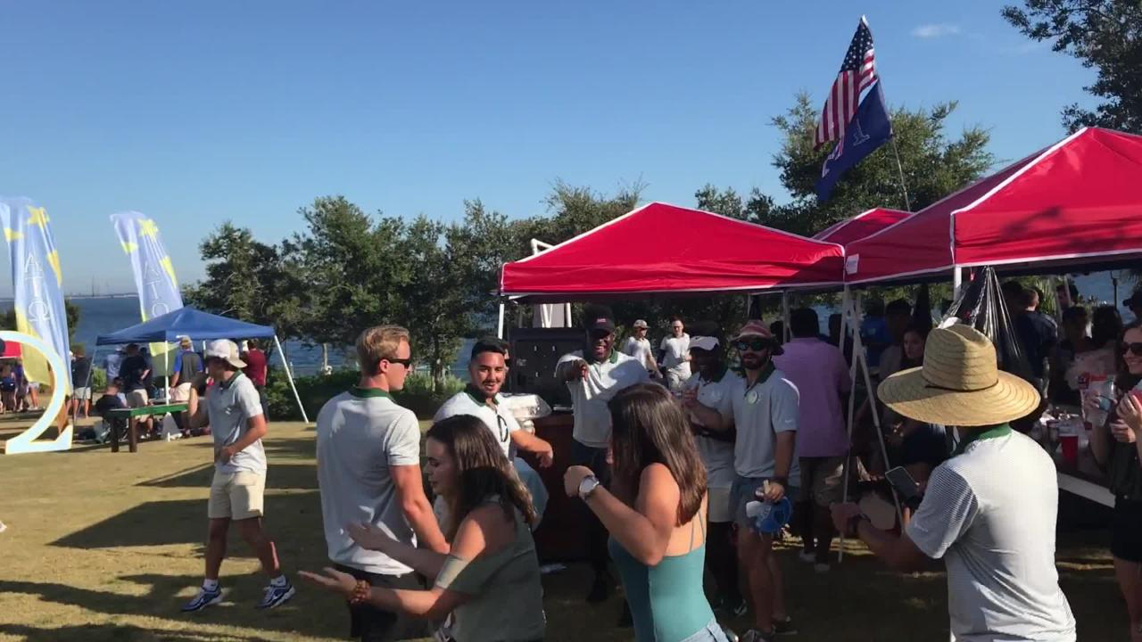 UWF's first home game = UWF's first tailgate parties