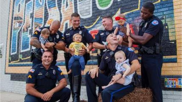 The Pensacola Police Department put its own twist on the social media trend that has police officers all over the country posing for photos.