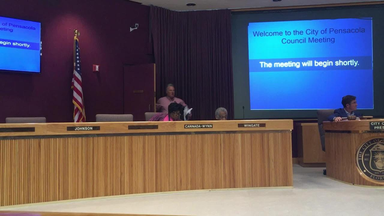 Councilman Larry Johnson storms out of council meeting
