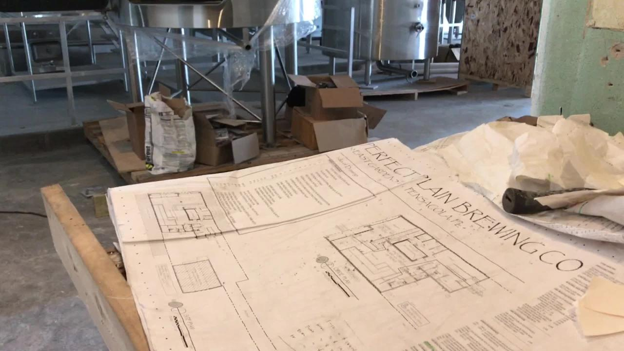 Perfect Plain Brewing Company owners talk about why they wanted to open their brewery in Pensacola. It is set to open in November.