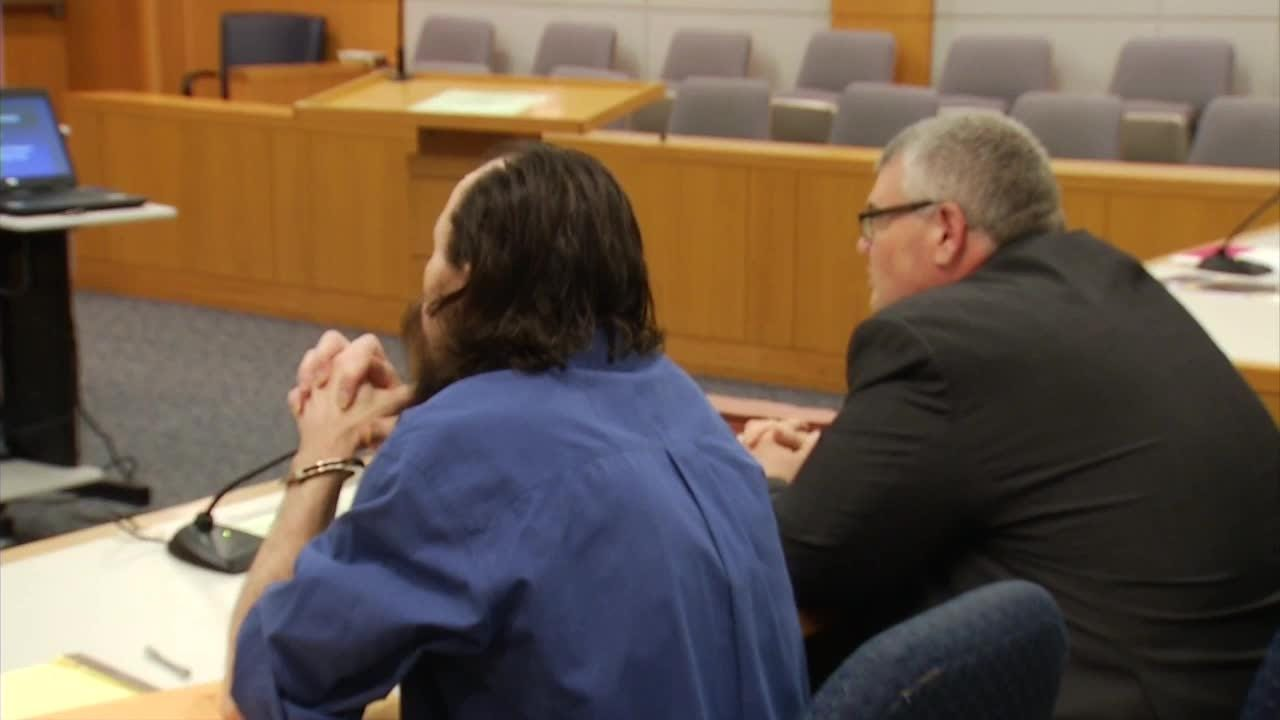 Murder suspect Michael Rodgers is removed from his trial due to disruptive behavior.