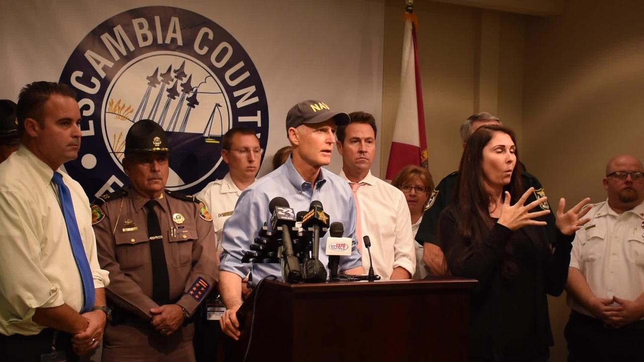 Gov. Rick Scott gives an update on Tropical Storm Nate