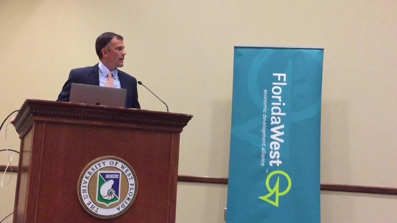 FloridaWest Economic Development Alliance launched its cybersecurity strategic plan at the University of West Florida on Friday, Oct. 13, 2017. (Joseph Baucum/jbaucum@pnj.com)