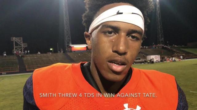 Escambia QB AV Smith talks after win over Tate