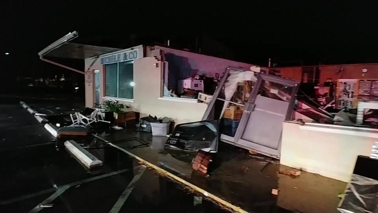 RAW: Gulf Breeze businesses sustained heavy damage from weather-related incident.